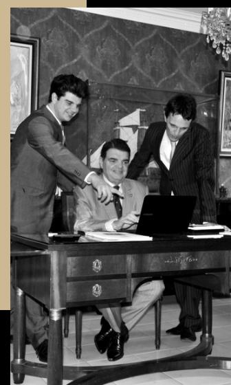 photo noir blanc trois membres histoire cabinet