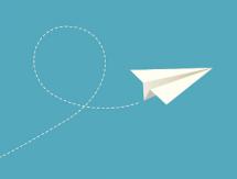pictogramme d'un avion en papier