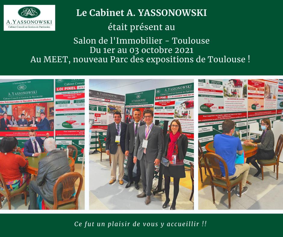 Equipe Yassonowski au salon de l'immobilier à Toulouse